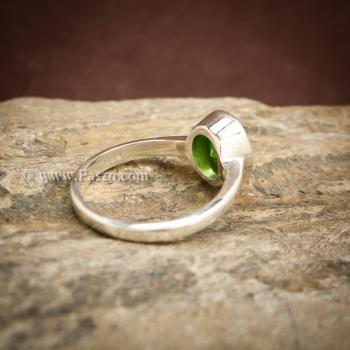 แหวนมรกต แหวนพลอยสีเขียว แหวนเงินแท้ #2