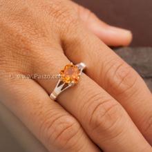 แหวนพลอยรูปหัวใจ แหวนพลอยแม่โขง แหวนบุษราคัม แหวนเงินแท้ พลอยหัวใจ