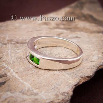 แหวนแถว แหวนเงิน ฝังโกเมน #3