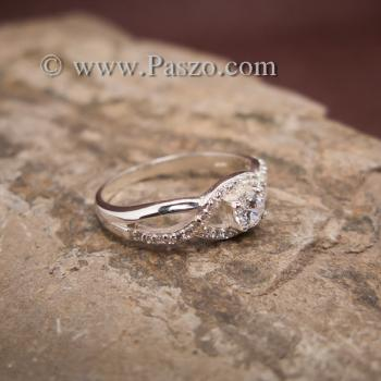 แหวนดวงตา แหวนเพชร แหวนเงินฝังเพชร #3