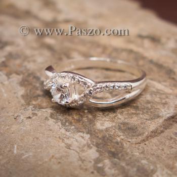 แหวนดวงตา แหวนเพชร แหวนเงินฝังเพชร #2