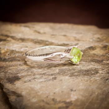 แหวนเพริด๊อต แหวนพลอยสีน้ำมะนาว แหวนพลอยสีเขียวอ่อน #3