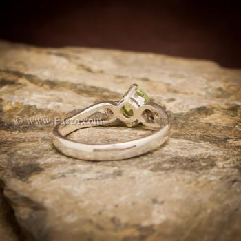 แหวนเพริด๊อต แหวนพลอยสีน้ำมะนาว แหวนพลอยสีเขียวอ่อน #4