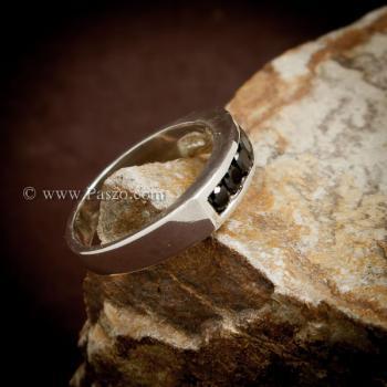 แหวนนิล แหวนแถว พลอยสีดำ #4