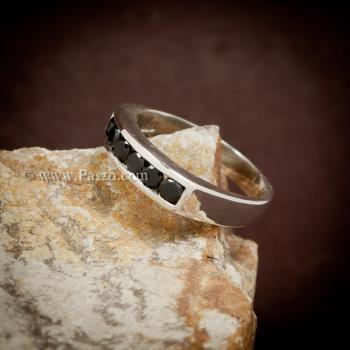 แหวนนิล แหวนแถว พลอยสีดำ #2