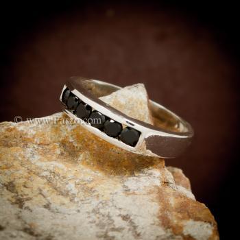 แหวนนิล แหวนแถว พลอยสีดำ #3