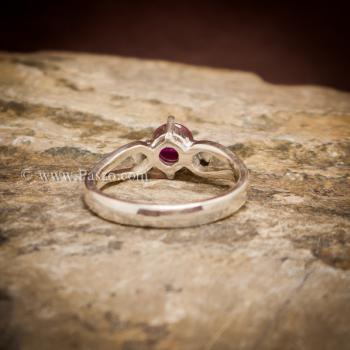 แหวนทับทิม แหวนพลอยสีแดง เม็ดกลม #3