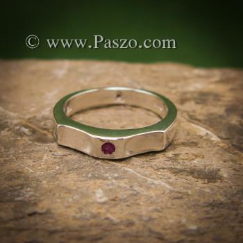 แหวนพลอยสีแดง แหวนเงิน ทับทิม #2
