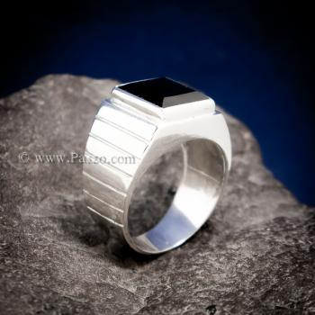 แหวนนิลแท้ แหวนผู้ชาย นิลแท้ #3