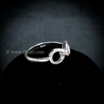 แหวนอินฟินิตี้ แหวนเพชร แหวนเงินแท้ #5