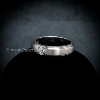 แหวนเพชร แหวนเงินแท้ ขอบแหวนลดระดับ #3