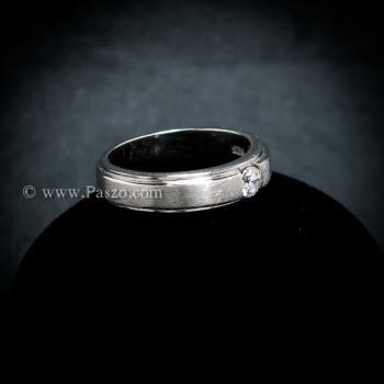 แหวนเพชร แหวนเงินแท้ ขอบแหวนลดระดับ #4