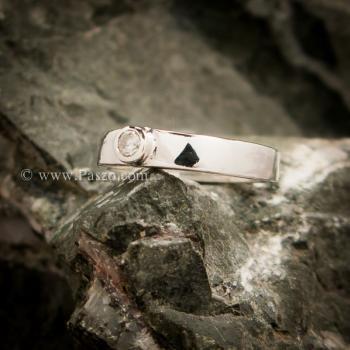 แหวนเพชร แหวนเงินแท้ เพชรสวิส #4