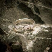 แหวนเพชร แหวนเงินแท้ เพชรสวิส เม็ดกลม แหวนรุ่นเล็ก แหวนเงินฝังเพชร