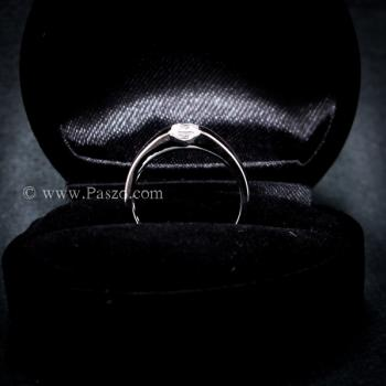 แหวนเพชร เม็ดสี่เหลี่ยม แหวนเงินแท้ #3