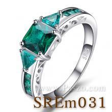 แหวนพลอยสีเขียว แหวนวินเทจ แหวนเงินแท้ แหวนพลอยมรกต