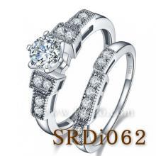 แหวนชุด แหวนถอดแยกใส่ได้ แหวนเพชรแถว แหวนเงินแท้ แหวน2in1 แหวนเงินฝังเพชร