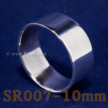 แหวนเกลี้ยงหน้าเรียบ กว้าง10มิล แหวนเกลี้ยง #2