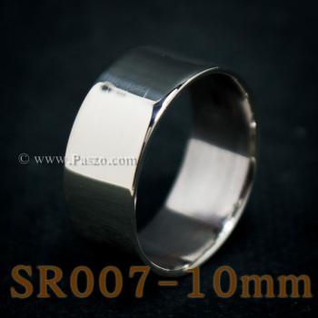 แหวนเกลี้ยงหน้าเรียบ กว้าง10มิล แหวนเกลี้ยง #5
