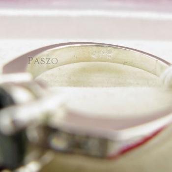 แหวนเงินมรกต บ่าเพชร พลอยมรกต #6