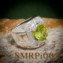แหวนผู้ชายราศีสิงห์ แหวนผู้ชายเงิน เพอริด๊อต แหวนผู้ชาย ประดับเพชร