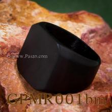 แหวนสี่เหลี่ยมหน้าเรียบ ชุบรมดำ ปัดด้าน แหวนผู้ชาย แหวนชุบรมดำ แหวนสแตนเลส แหวนทรงสี่เหลี่ยม แหวนเทห์ๆ