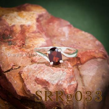 แหวนโกเมน แหวนพลอยเม็ดเดี่ยว พลอยสีแดงก่ำ #3