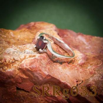 แหวนโกเมน แหวนพลอยเม็ดเดี่ยว พลอยสีแดงก่ำ #2
