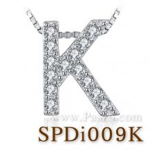 จี้ตัวอักษร จี้ตัวเค K จี้เงินแท้ จี้ภาษาอังกฤษ จี้แฟชั่น