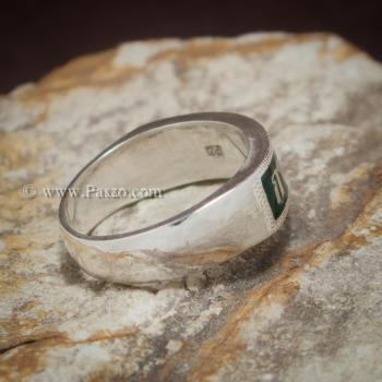 แหวนนามสกุล แหวนเงินแท้ หน้ากว้าง6มิล #2