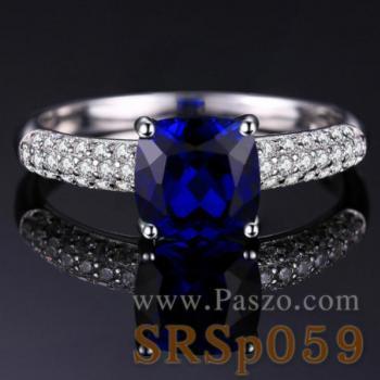 แหวนพลอยไพลิน ชุดสะพานดาว แหวนเงินแท้ #5