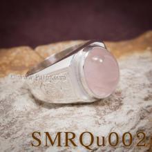 แหวนผู้ชายพลอยสีชมพู แหวนสลักลายไทย บ่าแกะสลักลายไทย แหวนเงินผู้ชาย แหวนผู้ชาย