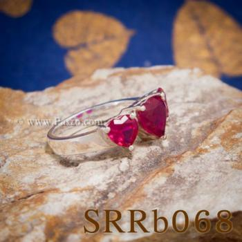 แหวนทับทิม แหวนหัวใจ พลอยสามเม็ด #2