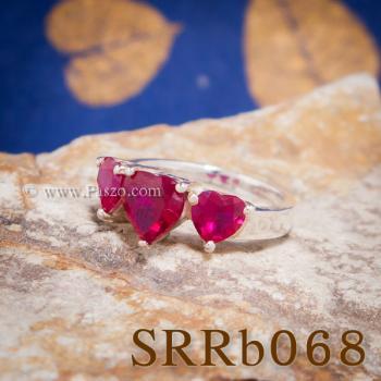 แหวนทับทิม แหวนหัวใจ พลอยสามเม็ด #3