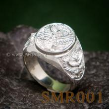 แหวนพญาครุฑ แหวนเงิน แหวนเงินผู้ชาย แหวนพญาครุฑ3องค์