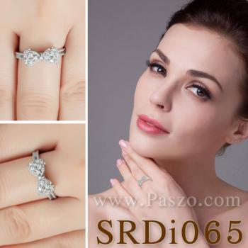 แหวนโบว์ แหวนเพชร แหวนเงินแท้ #3