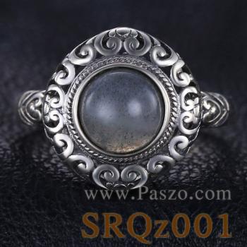 แหวนสไตล์คลาสสิก หินลาบราดอไรต์ หินแห่งดวงตาที่สาม #2