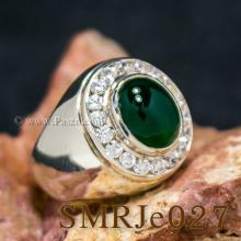แหวนหยกผู้ชาย ล้อมเพชร แหวนผู้ชายเงินแท้ แหวนหยก แหวนผู้ชาย