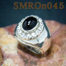 แหวนนิลผู้ชาย แหวนผู้ชาย ล้อมเพชร แหวนผู้ชายเงินแท้