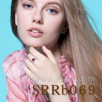 แหวนพลอยทับทิม ประดับเพชร รูปผีเสื้อ #5