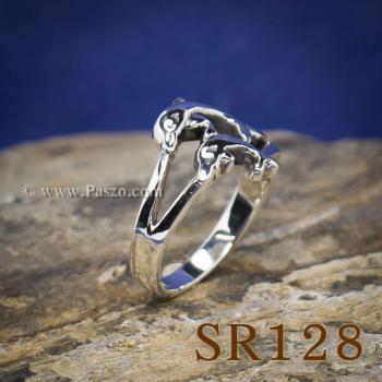 แหวนปลาโลมา แหวนโลมาคู่ แหวนเงินแท้ #5
