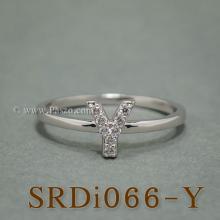 แหวนตัววาย แหวนตัวอักษร Y แหวนเงิน ฝังเพชร แหวนเพชร