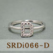 แหวนตัวดี แหวนตัวอักษร D แหวนเงิน ฝังเพชร แหวนเพชร