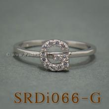 แหวนตัวจี แหวนตัวอักษร G แหวนเงิน ฝังเพชร แหวนเพชร