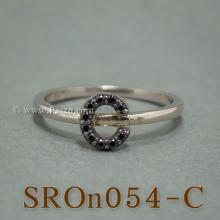แหวนตัวอักษร แหวนตัวซี C แหวนเงิน ฝังนิล แหวนนิล