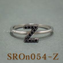 แหวนตัวอักษร แหวนตัวแซด Z แหวนเงิน ฝังนิล แหวนนิล