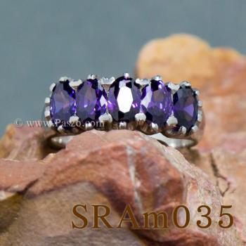 แหวนพลอยสีม่วง แหวนเงิน แหวนแถว #2