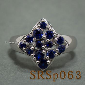 แหวนไพลิน แหวนเงินแท้  #5