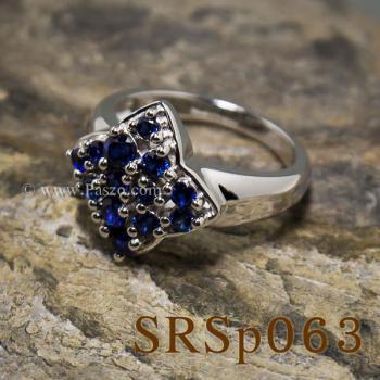 แหวนไพลิน แหวนเงินแท้  #2