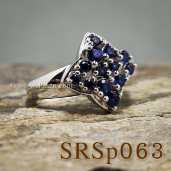 แหวนไพลิน แหวนเงินแท้  #3